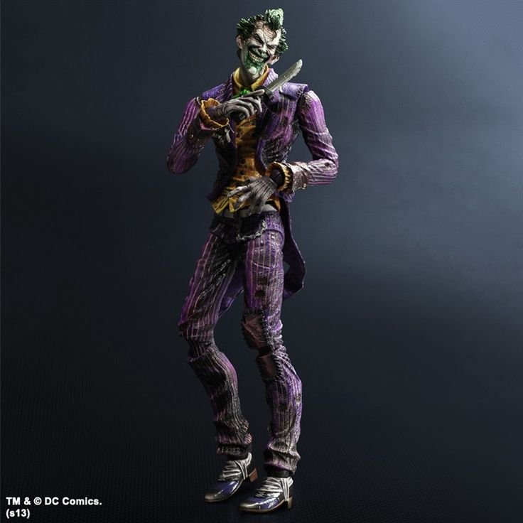 Batman Arkham City Play Arts Kai Action Figure Joker 24 cm