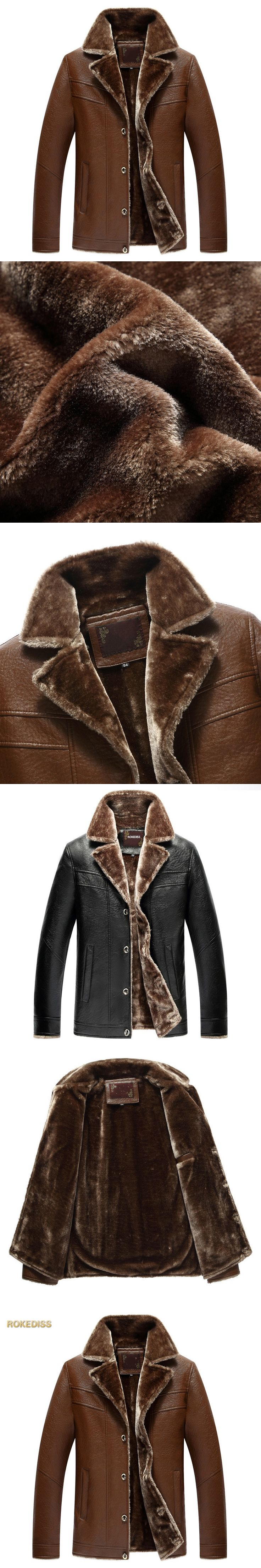 2017 Winter male Leather Jacket Men PU Warm Mens Leather Motorcycle Biker Jackets Standing Collar Coat Outdoors parka