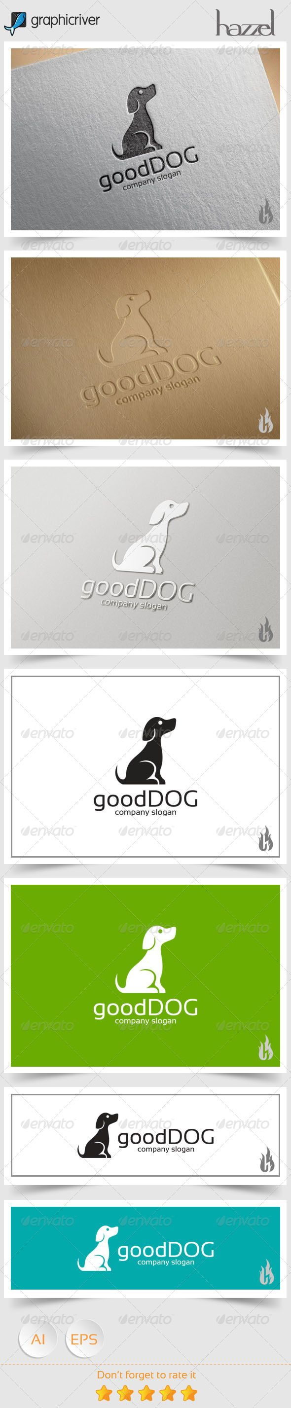 Good Dog Logo — Vector EPS #puppies #puppy • Available here → https://graphicriver.net/item/good-dog-logo/8606282?ref=pxcr