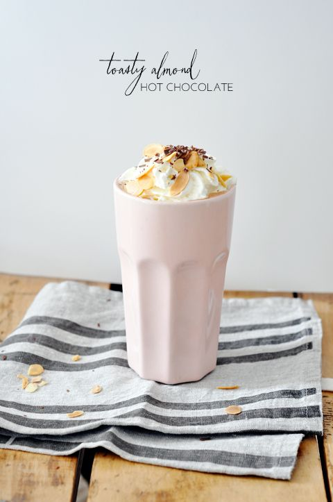 Toasted Almond Hot Chocolate. Ridiculously delicious!