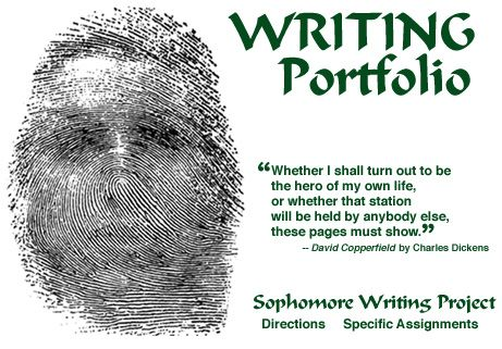Writing Portfolio (High School) - A fantastic list of 60 largely autobiographical assignments designed for a writer's notebook.