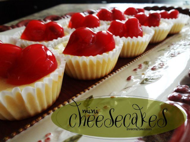 simple mini cheesecake recipe - 8 oz cream cheese, 1/4 c sugar, 1/2 tsp vanilla, 1 egg & 12 cookies for bottoms.