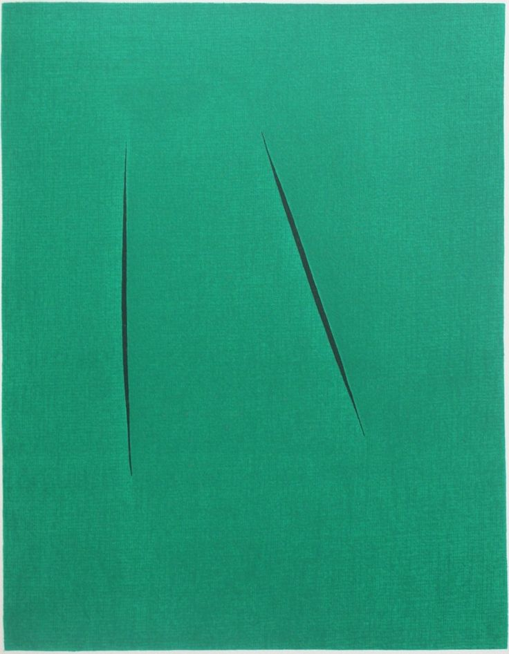 Lucio Fontana, Concetto Spaziale (from XXe siècle), 1959, EHC Fine Art