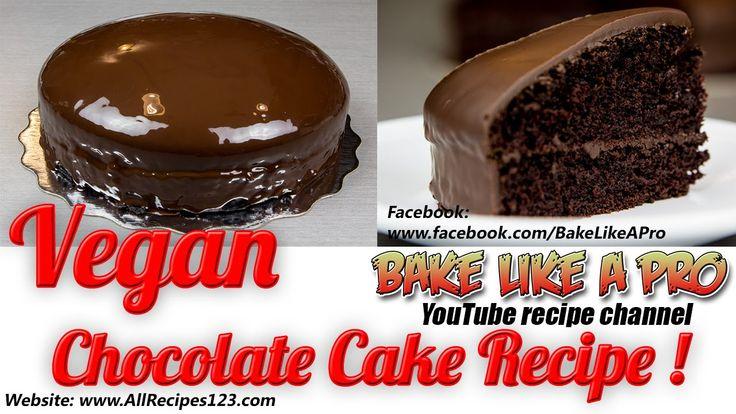 Mini VEGAN Chocolate Cake Recipe By BakeLikeAPro