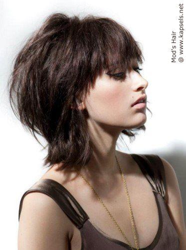 Afbeeldingsresultaat voor korte kapsels fijn dun haar lang in de nek