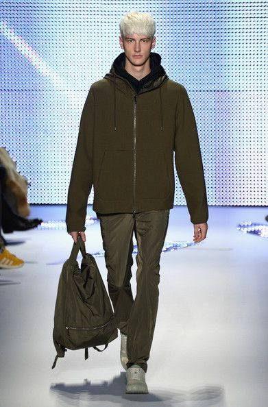 A model walks the runway at the Lacoste fashion show during Mercedes-Benz Fashion Week Fall 2014 at The Theatre at Lincoln Center on Februar...