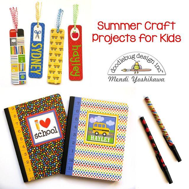 Doodlebug Design Inc. Back To School Crafts Ideas For Kids by Mendi Yoshikawa