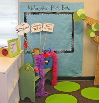 1st day of school photo booth. Photo opp for parents to keep with them.  :)