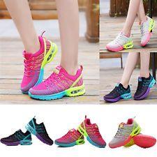 Moda Feminina Esportes respirável sapatos de amortecimento De Cadarço Tênis de corrida de viagem