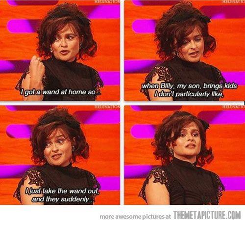 Helena Bonham Carter, parenting done right…