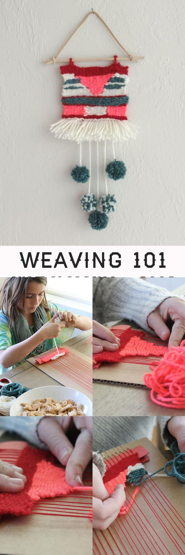 DIY on a wonderful weaving project for kids and grown-ups