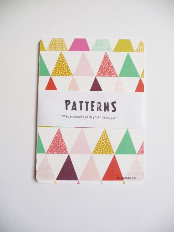 Cards  Geometric and colors  print  triangle by mademoiselleyo, $5.50