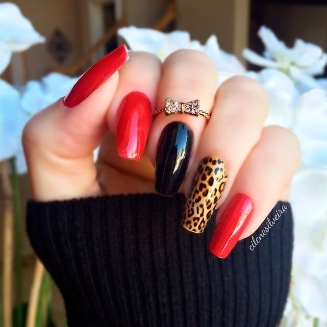 Über 20 Bilder mit roten Acrylnägeln – Nägel Design