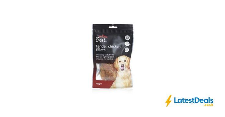 Wilko Best Dog Treats Chicken Fillets 100g, £1.50