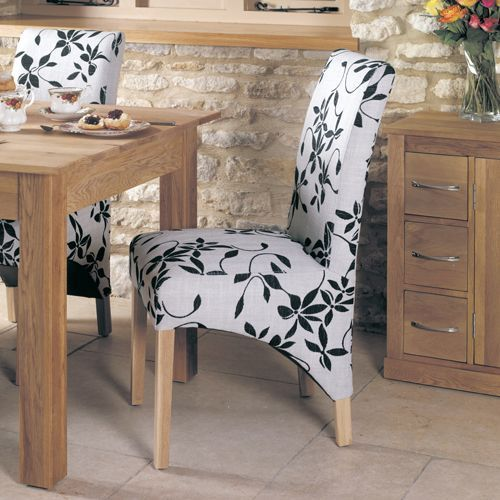 Mobel Oak Upholstered Dining Chair Pack Of Two #oak #furniture #home #decor #interior #inspiration #traditional #diningroom #livingroom #lounge #dining chair #kitchen