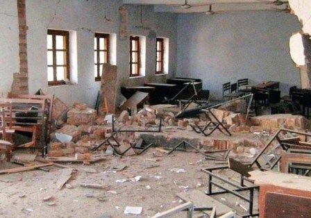 School building damaged in Peshawar bomb blast