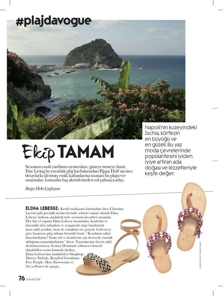 Elina Lebessi featured in Vogue Turkey!