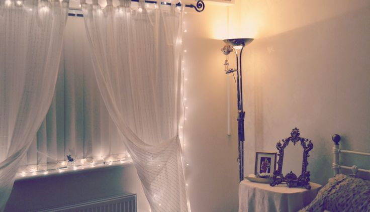 fairy lights bedroom room stuff pinterest