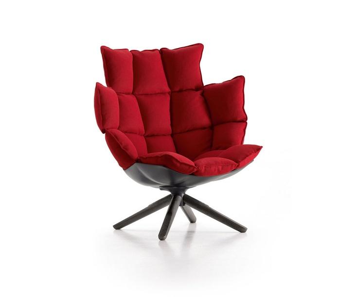 contemporary armchair HUSK by Patricia Urquiola B Italia