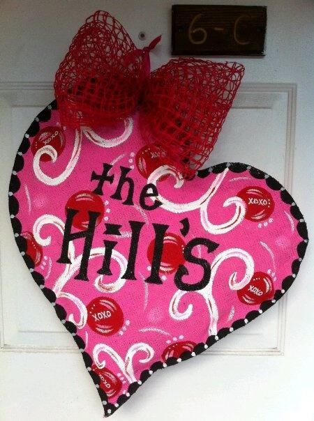 Burlap Valentine's heart