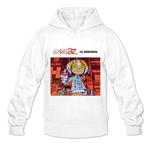 Soulya Men's Gorillaz G Sides Korean Style Hoodies Sweatshirt Size US White  Gorillaz G Sides Hoodies Sweatshirt Is 100% Organic Cotton And Using The Highest Quality.The Picture Printed In The T Shirt Is Using The Eco-friendly Ink To Protect Your Skin.It Is Slim Fit Short Sleeves Style And Machine Washable. 100% Organic Cotton 100% Organic Cotton Personalized Hooded Sweatshirt Is Great Fun And A Perfect Gift. 100% Organic Cotton 100% Organic Cotton Personalized Hooded Sweatshirt Is G..
