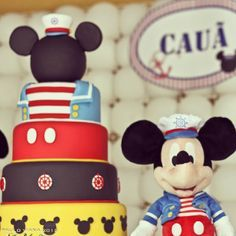 nautical mickey mouse cake - Google Search
