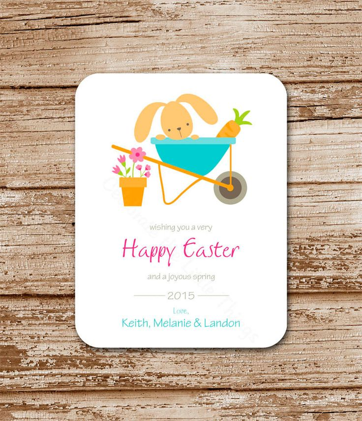 23 best easter cards gift tags images on pinterest gift ideas set of 8 easter cards garden bunny flat cards personalized happy easter negle Choice Image