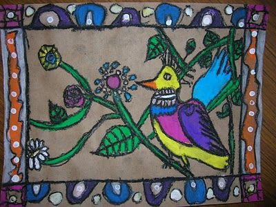 The Elementary Art Room!: mexican   bark painting