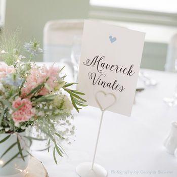 Pearl Table Cards