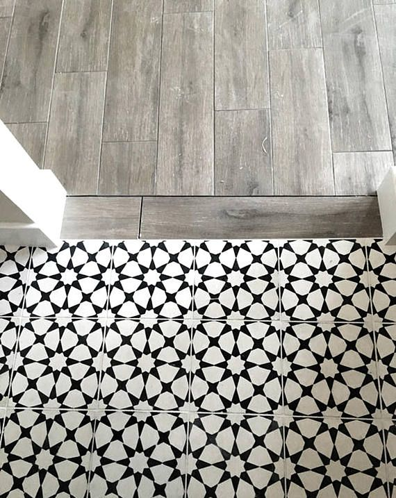 Classicism Interior Trend 2018/19 -Tile/ Wall / Stairs/ Floor Vinyl Decal Stickers, Peel & Stick Adhesive Tile for Home Decor : Pack of 44