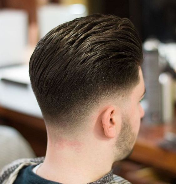 Low Taper Fade With Pompadour