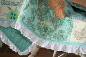 Adding Eyelet Lace Trim To Quilt Binding More Baby Ideas