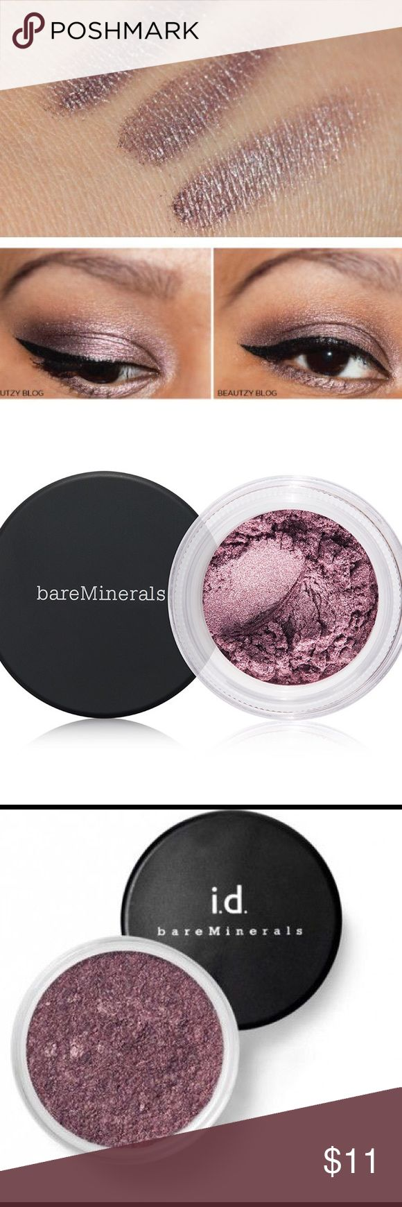 Mineral eyeshadow Bare Minerals eyeshadow in Devotion. This is a really pretty and shimmery purple/maroon shadow. Blends very well. A must have for any makeup lover. bareMinerals Makeup Eyeshadow