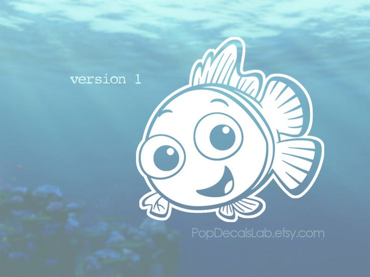 Finding Nemo vinyl decal - Nemo Clownfish fish- wall decal - car decal - macbook decal- laptop sticker - made in USA - PopDecalsLab by PopDecalsLab on Etsy https://www.etsy.com/listing/385484110/finding-nemo-vinyl-decal-nemo-clownfish