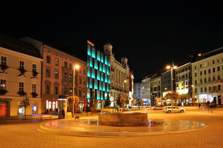 Historical and modern buildings in Brno