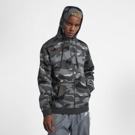 74b35ca392bf2 Sweat à capuche entièrement zippé camouflage Nike Sportswear Club Fleece  pour Homme