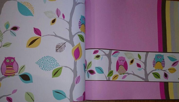 Diferentes combinaciones de colores. Tienes la opción de combinar papel estampado, con liso y cenefa. Tú decides!