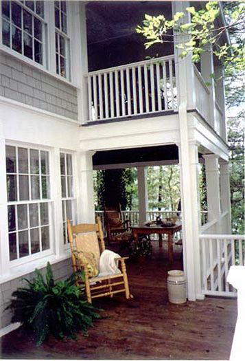 Two Story Covered Porch
