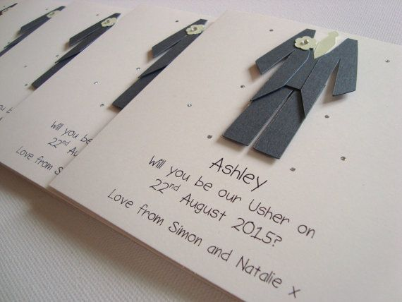 Personalised Usher/Best Man/Page Boy Wedding Thank by ohsopurrfect