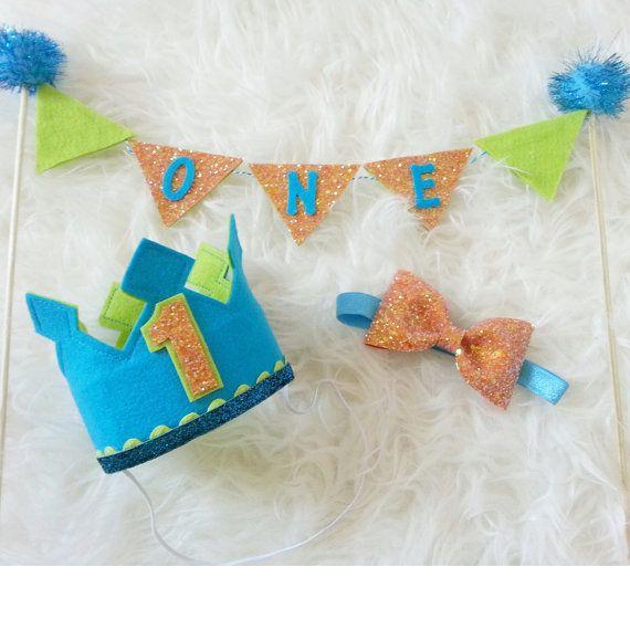 Birthday Boy Cake Smash Set, birthday crown, birthday hat, bow tie, cake banner, cakesmash, smashcake, first birthday, birthday boy