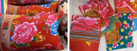 hill tribe, vietnam, embroidery, vintage, fabrics, red, pink, flowers, ethnic, tribal, hmong, minority, sapa, cross stitch, lucy patterson, blog, hands-on cushions, purses