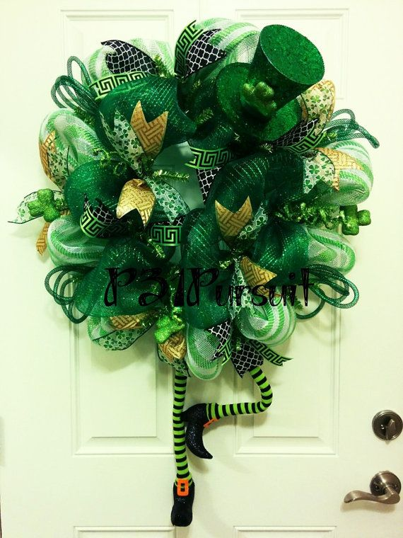 St. Patrick's Day Wreath by P31Pursuit on Etsy