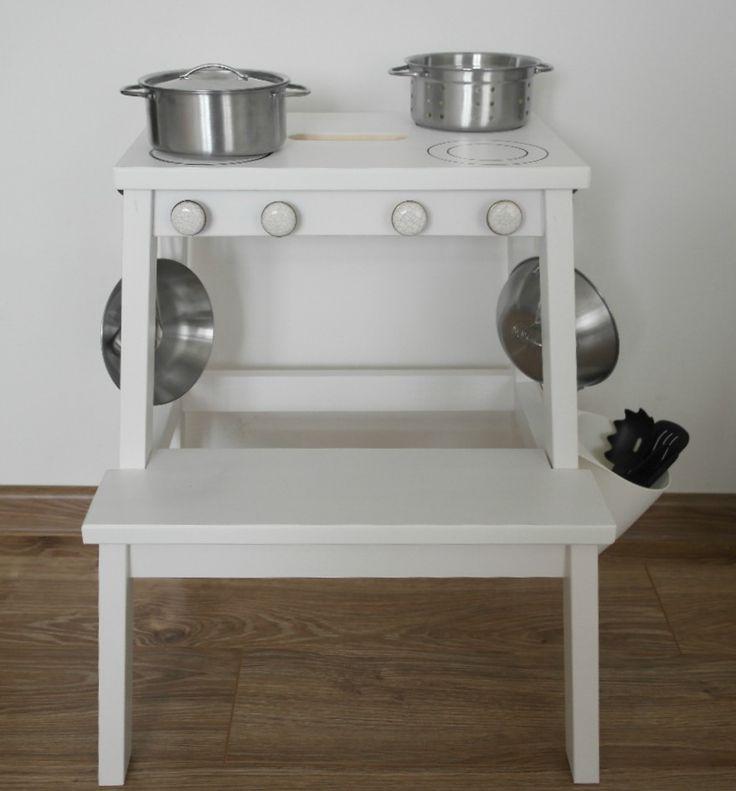 DIY IKEA Bekvam stool hack / DIY drewniana zabawkowa kuchenka za mniej niż 100 zł - ZORGANIZOWANA
