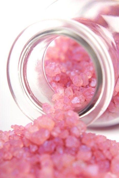 Pink bath salts