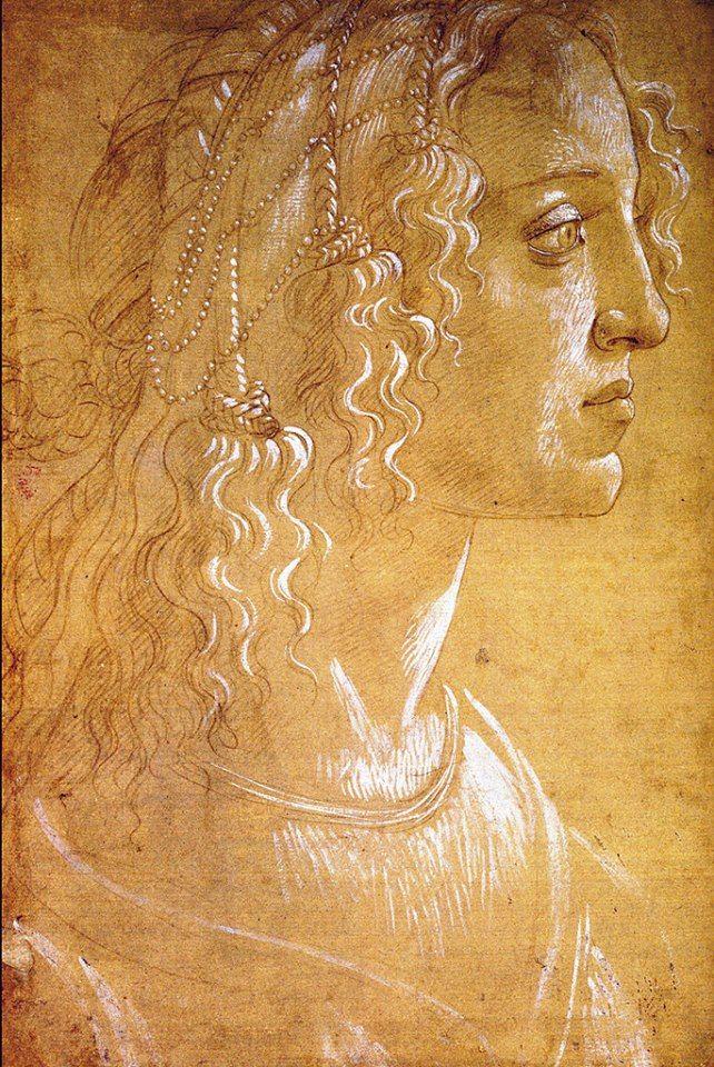 Sandro Botticelli, Ritratto femminile (studio per il Ritratto allegorico di Simonetta Vespucci?) 1476 ca.