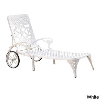 biscayne chaise lounge in white set of
