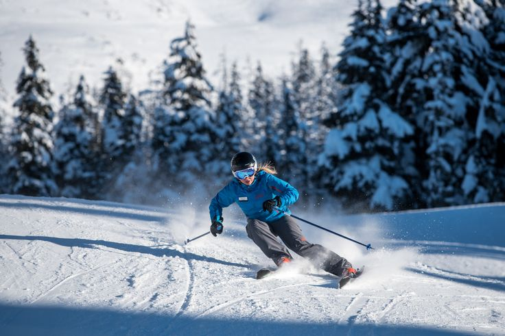 When skiing, if you find yourself accelerating as you move down the run, try to keep turning your legs at the end of the turn, until you start to go back up the hill. This will help you control your speed before starting your next turn. (Precision Points by GMC) PC: Logan Swayze