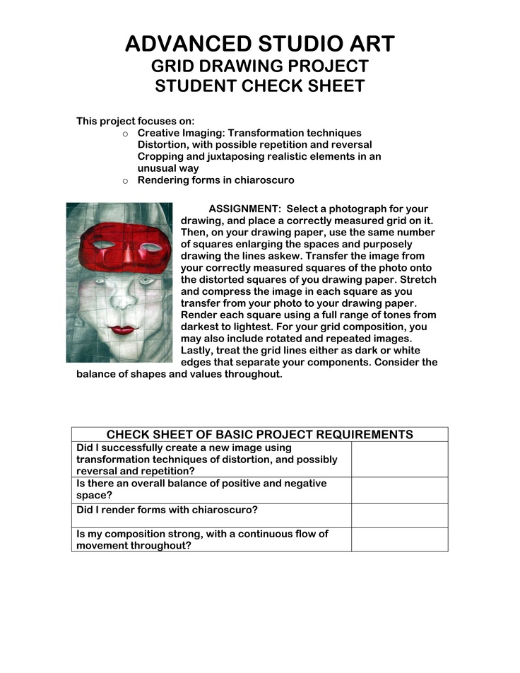 Worksheets Draw Art Transformations Free Worksheet 1000 images about art projects handouts rubrics lesson plans distort
