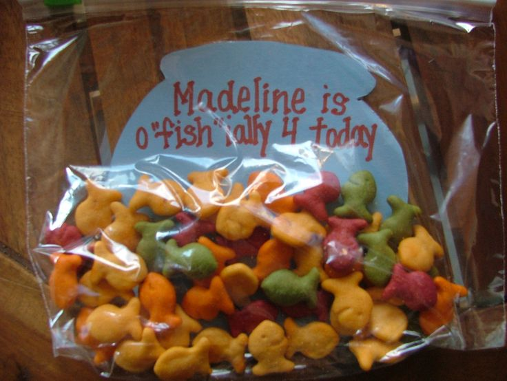 Madeline's snack for school ... fish theme birthday