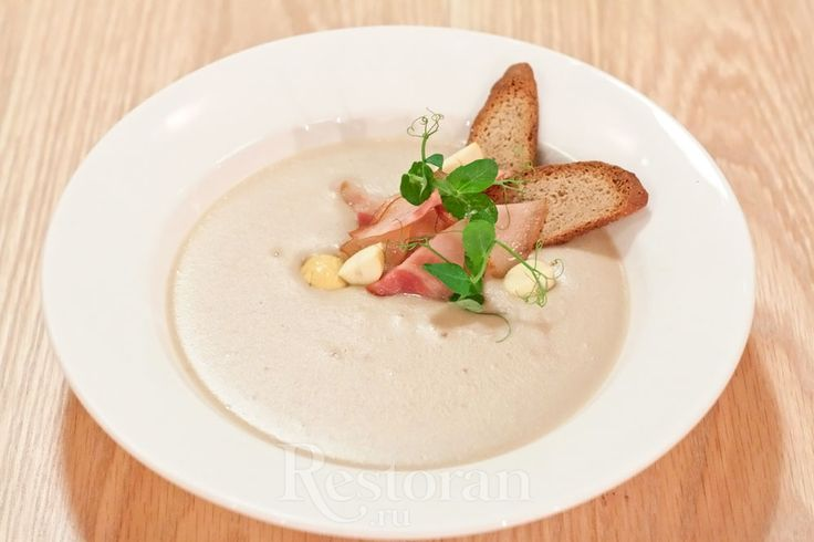 Каштановый крем-суп с беконом из кафе «Щислива»
